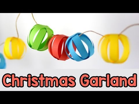 Christmas Garland Decoration DIY - Paper Crafts Ideas