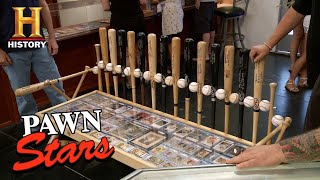 Pawn Stars: Custom Dodgers Autographed Baseball Bench Table | History