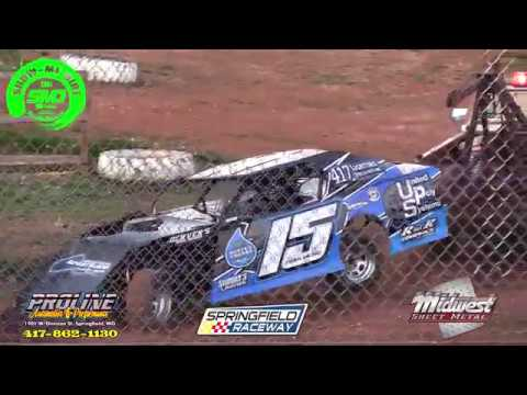 S03 E177 Shawn Carlberg York roll over at the Springfield Raceway