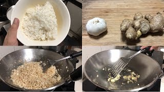 How to Cook Ginger Fried Rice with Garlic (Filipino Style)