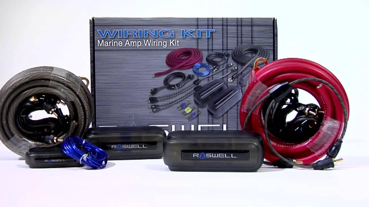 roswell marine amp wiring kit [ 1280 x 720 Pixel ]