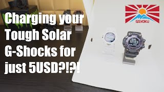 Charge your Tough Solar G-Shocks for just 5USD?