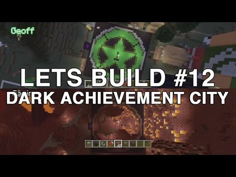 Lets Build in Minecraft : Dark Achievement City (Part 1)