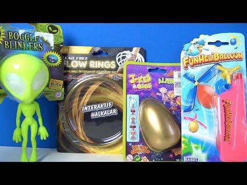 Birbirinden İlginç Stres Attıran oyuncak Altın Sürpriz Yumurta Elastik Uzaylı ve İnteraktif Halkalar