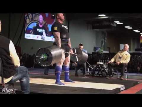 Hafthor Bjornsson Elephant Bar Deadlift World Record 2018