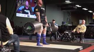 "HAFTHOR ""The Mountain"" BJORNSSON sets world record in Elephant Bar Deadlift at 1,041 pounds"