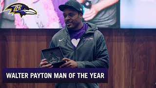 Go Inside Team Meeting When Brandon Carr Named Walter Payton Man of the Year Nominee