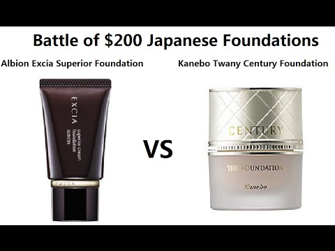 Download Battle of $200 Japanese Foundations - Kanebo Twany Century VS Albion Excia Superior Cream Foundation