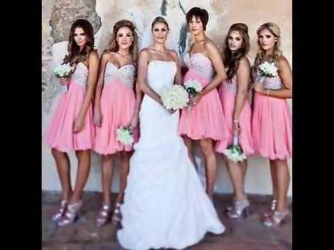 bbcf997ed Vestidos en colores pasteles damas de honor - YouTube