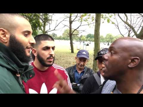 """""""What is your belief""""? Ali Dawah and Br Mohammed debate Sara. Speakers Corner"""