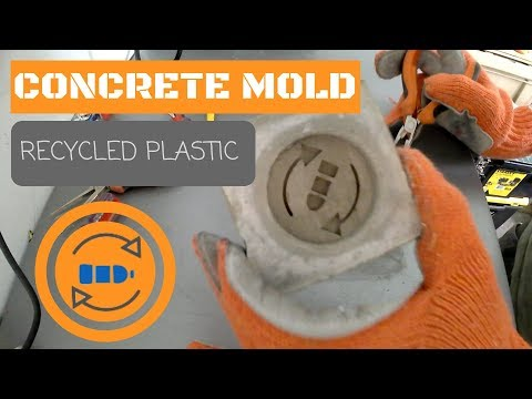Making a concrete mold for recycled plastic (HDPE)