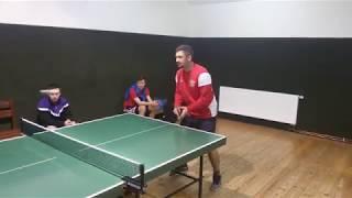Kopanina Masters 2017, stolní tenis, Tomáš Bláha v akci