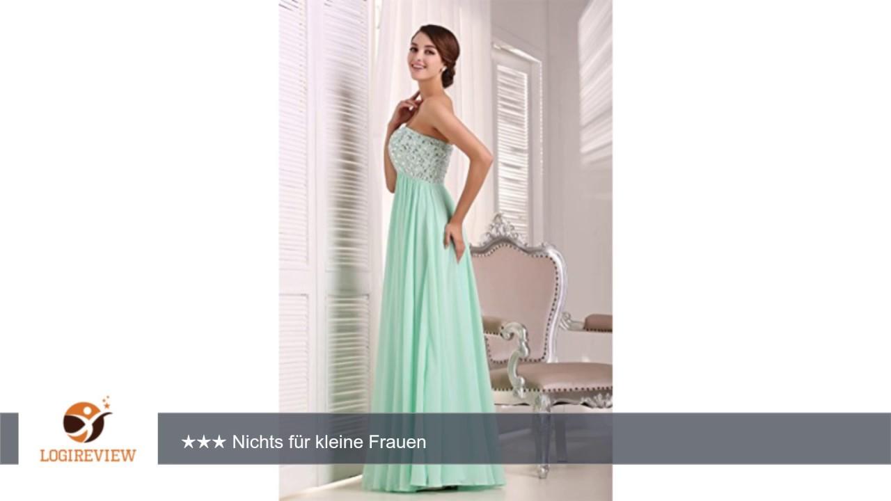 EnjoyBridal® A-Linie Lang Chiffon Perlen Abendkleid Ballkleid ...