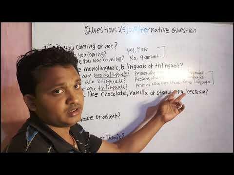 QUESTIONS:(5):ALTERNATIVE QUESTIONS