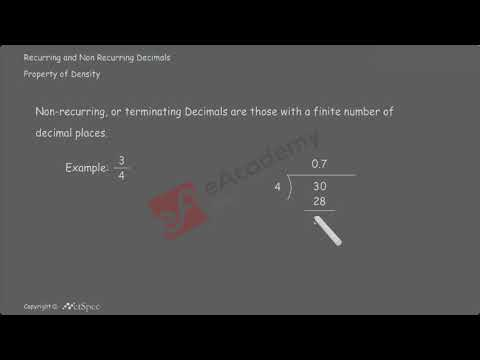 Recurring and Non Recurring Decimals vid