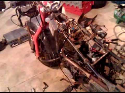 1983 Kawasaki KLT 250 with ford ignition - YouTube 5 pin cdi wiring diagram YouTube