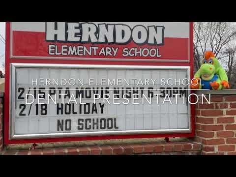 Dr. Tisseront & Freddy Flossasaurus visit Herndon Elementary School