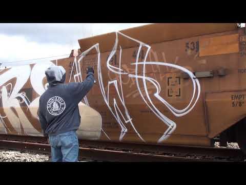 A Day Out With KEEP6 SDK (instagram @killakeep) Stomp Down Krew - Train Graffiti