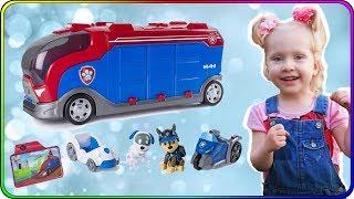 Тома и Игрушки Щенячий Патруль Патрулевоз автобус щенков и их машинки. Видео для детей
