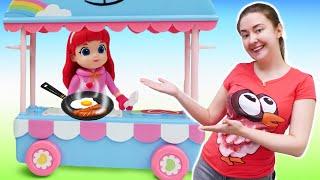 Куклы Радужная Руби и ее друзья - открываем кафе на колесах Rainbow Ruby! Веселые игры в игрушки