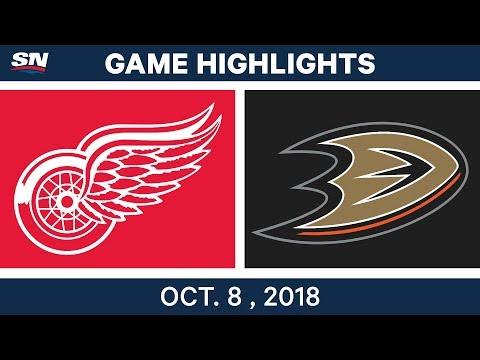 NHL Highlights | Red Wings vs. Ducks - Oct. 08, 2018