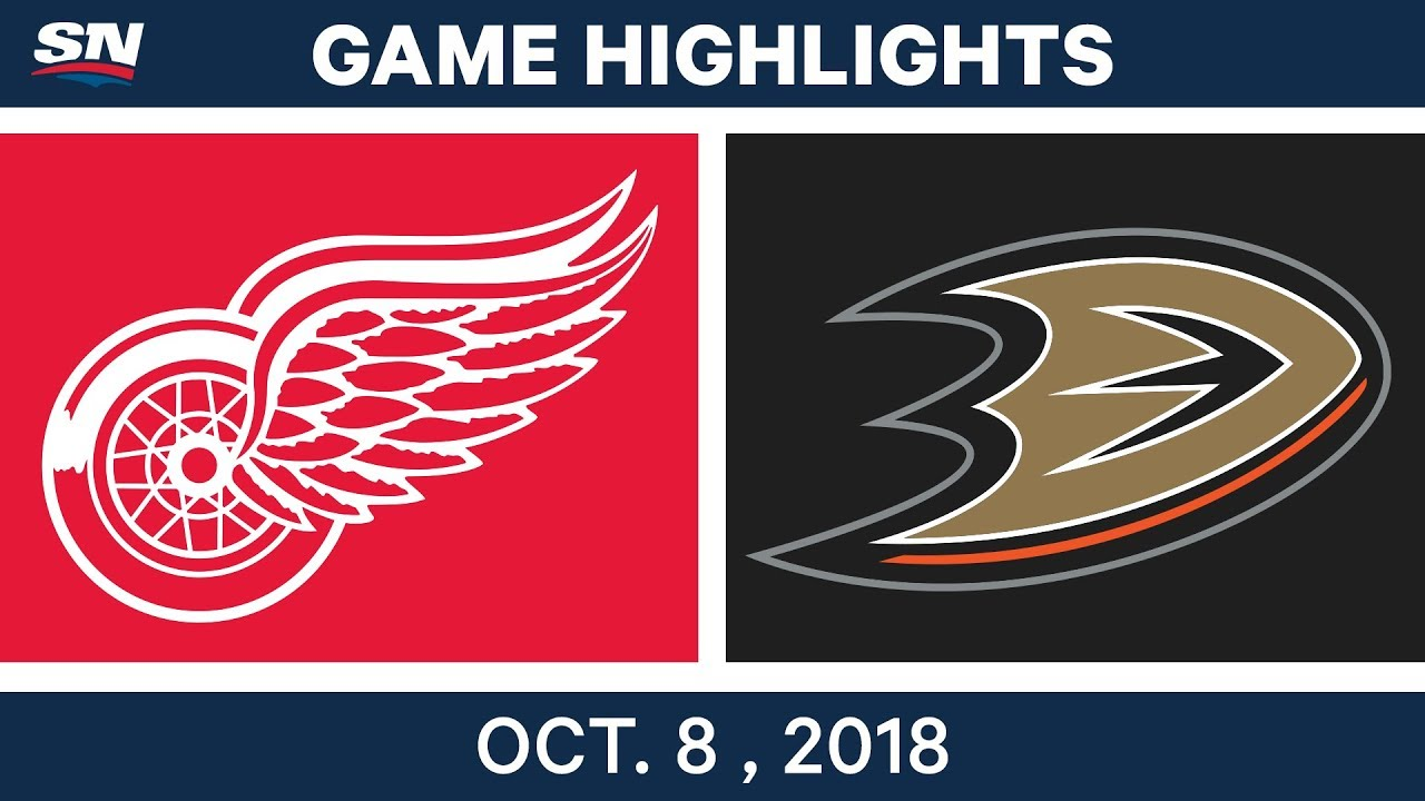 NHL Highlights | Red Wings vs. Ducks - Oct. 08, 2018