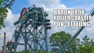 Baron 1898 Roller Coaster POV Pre Show Theming Rider Cam Efteling Netherlands