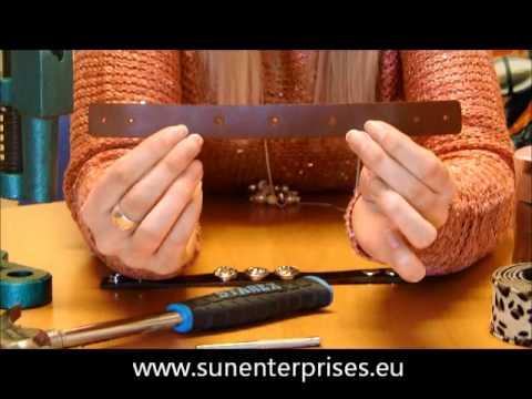 Lederarmband selber machen verschluss  Armband mit Knöpfen selbst herstellen - YouTube