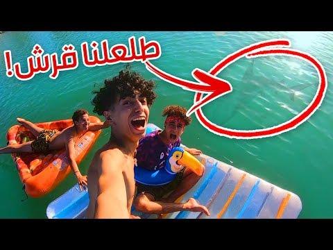 تحدي ٢٤ ساعة في وسط البحر ! ( طلع لنا قرش ! )