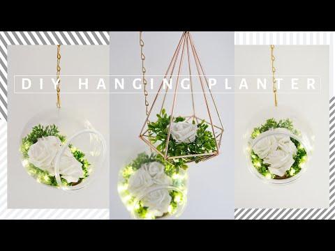 DIY Minimalistic Clear Hanging Fishbowl Planter | ROOM DECORATING 🌿