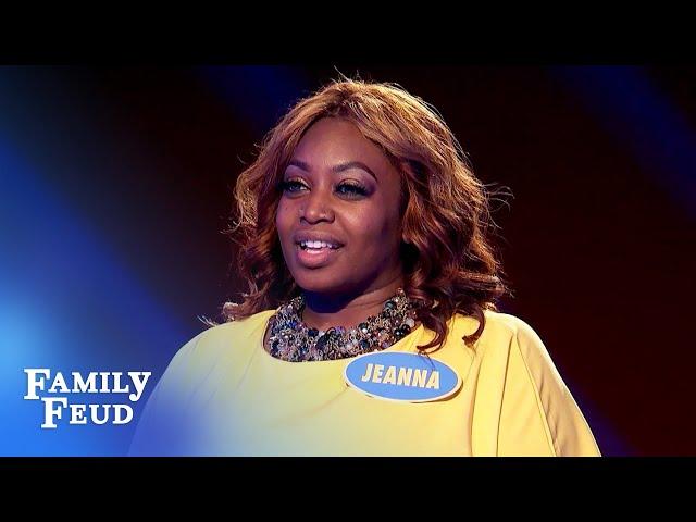 Jeanna's answers make Steve Harvey apologize to Ed! | Family Feud