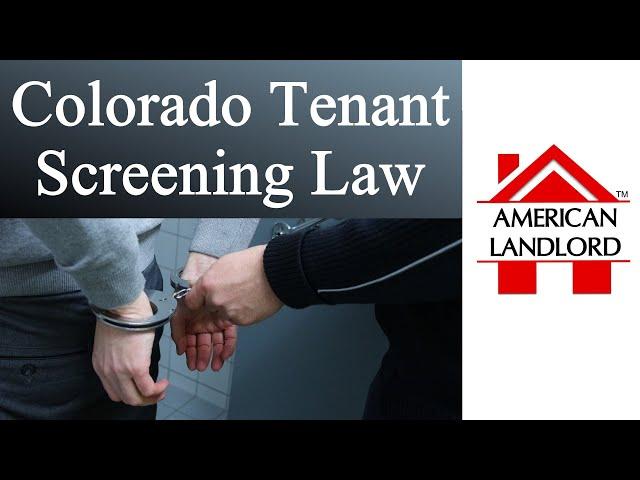 Colorado Tenant Screening & Rental Application Fee Law | American Landlord