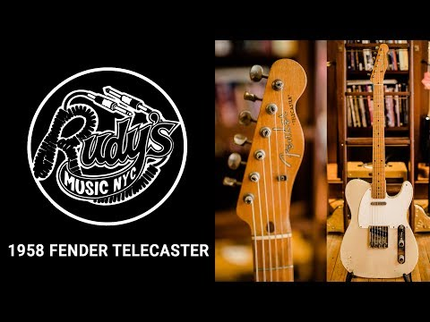1958 White Blonde Fender Telecaster - Rudy's Music Shop Demo