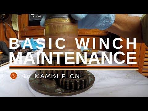 SV Ramble On - Basic Winch Maintenance