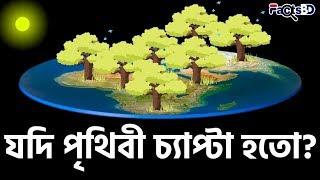 পৃথিবী চ্যাপ্টা বা সমতল হলে কেমন হতো? | What If Earth Were Flat? - FactsBD