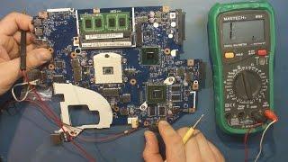 Ремонт материнской платы ноутбука (LA-7912p) от нашего подписчика. Неисправность драйвера ISL6208