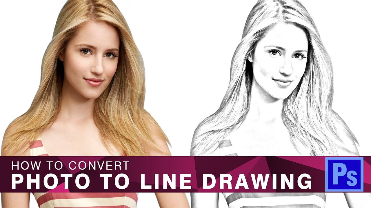 Drawing Lines In Photo Cc : New how to convert photo line drawing in photoshop