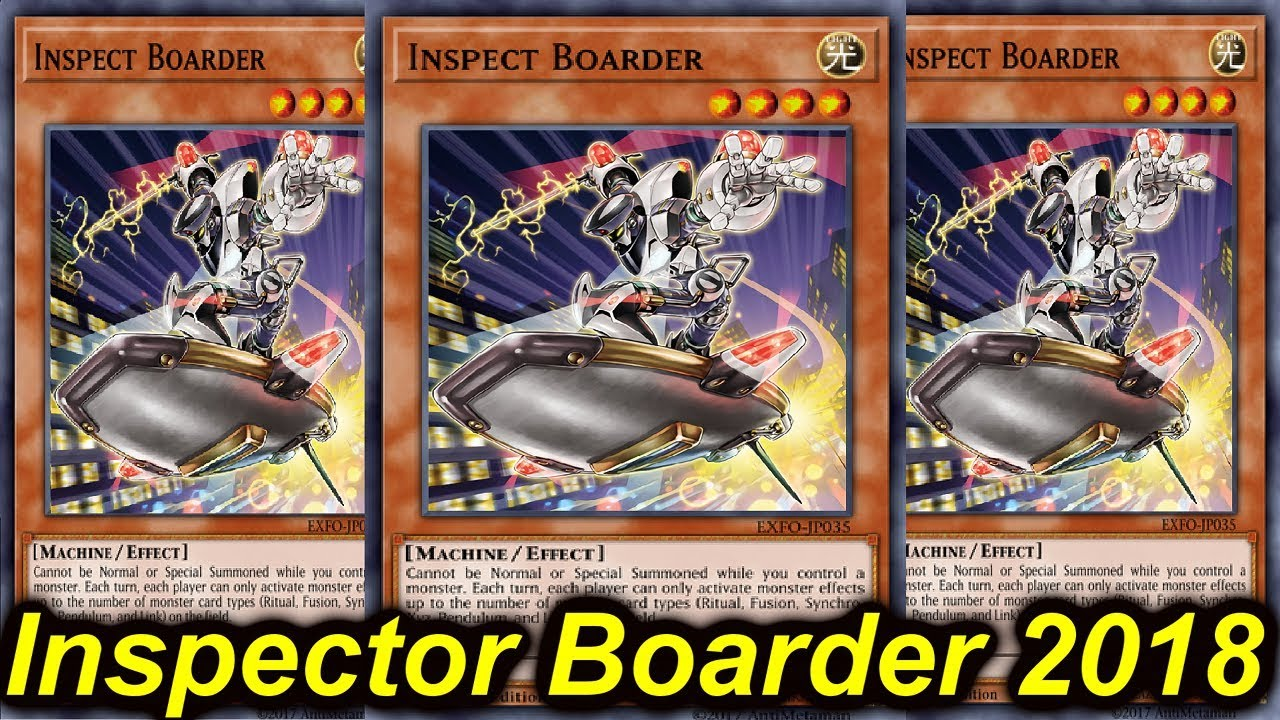 ygopro inspector boarder deck 2018 youtube