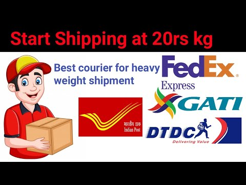Best courier service for heavy weight and large shipment in India
