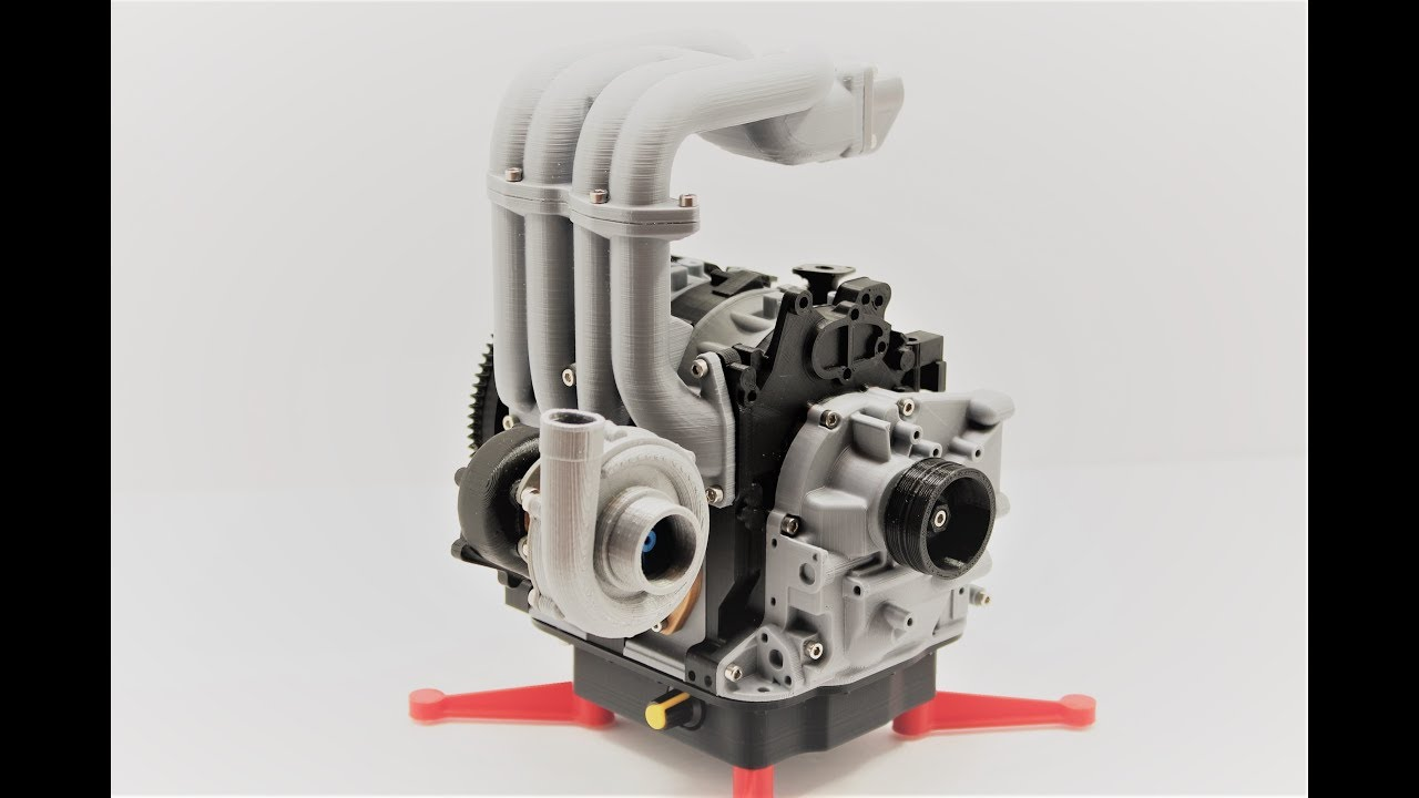 small resolution of 3d printed working model mazda rx7 rotary 13b rew wankel youtube rx7 13b engine diagram