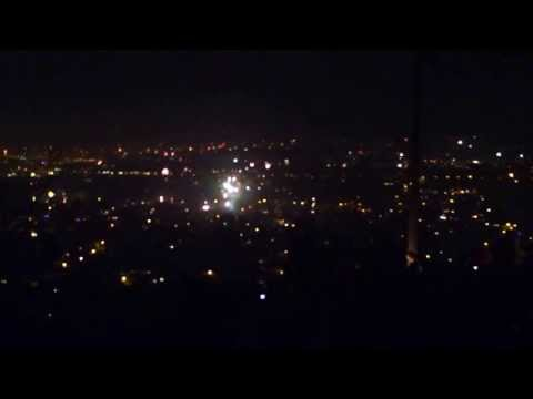 Silvester Feuerwerk 2014 Radebeul bei Dresden 1