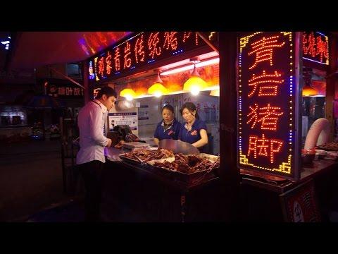 [Walking tour 漫步遊] 'Food Street' Erqi Road Guiyang China 貴州 貴陽市 二七路小吃街