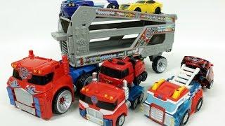 트랜스포머 레슈큐봇 카봇 또봇 자동차 장난감 로봇 변신 동영상 Transformers Rescue Bots Optimus Prime Trailer Vehicles Car Toys