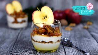 🍎🍏Traumhaft Winterliches Apfel🍎 Walnuss Dessert/von Lieblingsgeschmack
