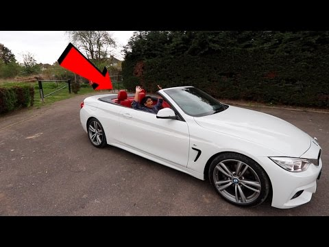 Kid Drives A BMW Convertible For The First Time (TEACHING A 12 YEAR OLD HOW TO DRIVE)