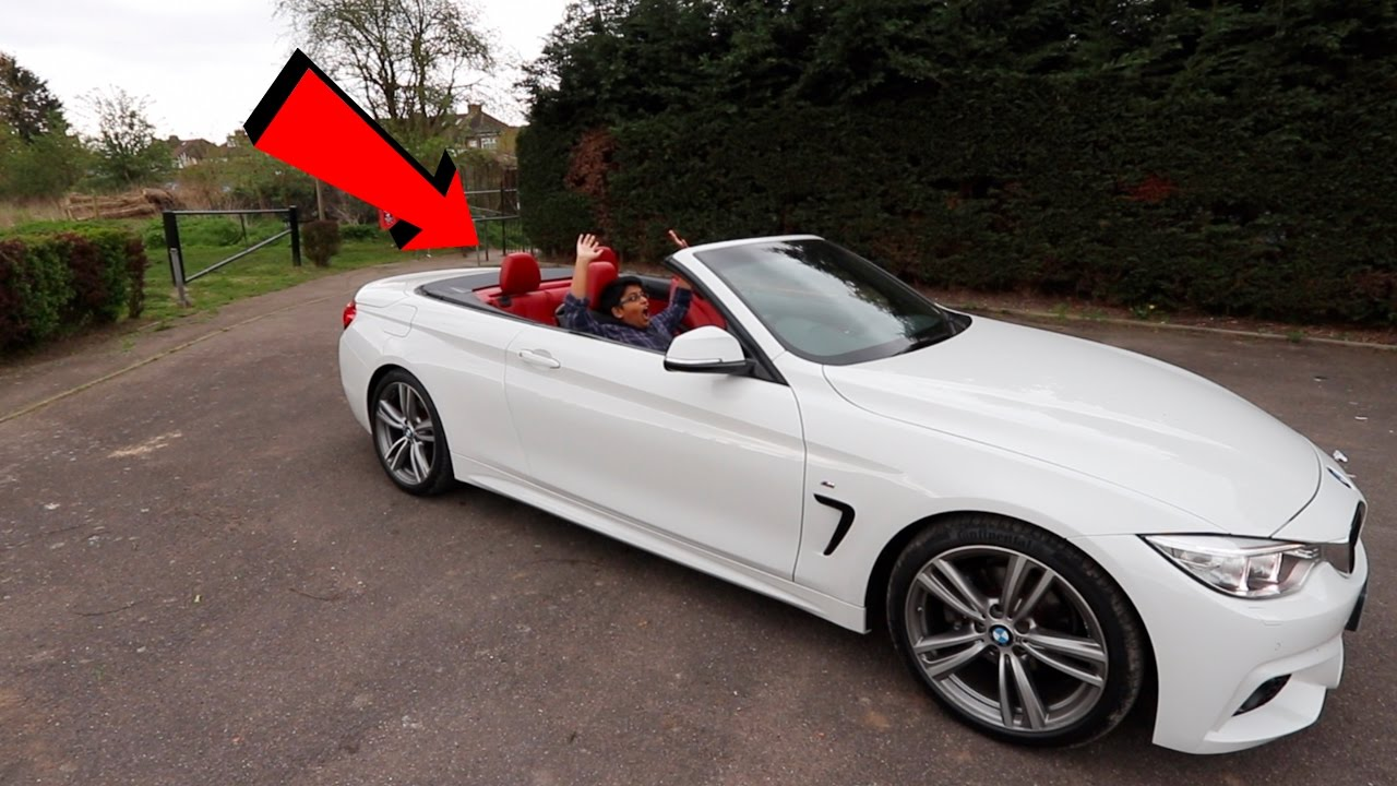 Kid Drives A Bmw Convertible For The First Time Teaching