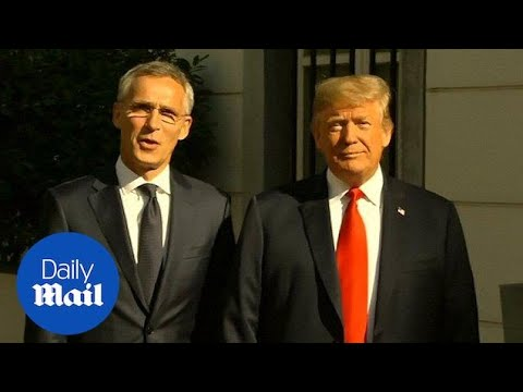 NATO Secretary-General Jens Stoltenberg arrives for Trump meeting - Daily Mail