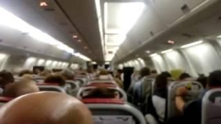 Встреча нового года на борту самолета  Екатеринбург 01 01 2017г