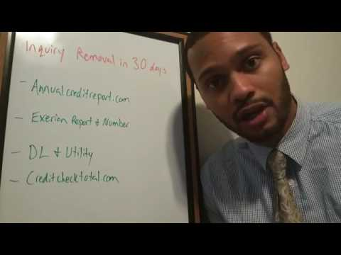 Hard Inquiries How to Remove Hard Inquiries from credit report in ...