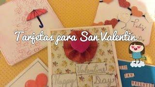tutorial 3 ideas de tarjetas para san valentin faciles